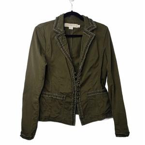 J. Crew Chino green cotton long sleeve jacket